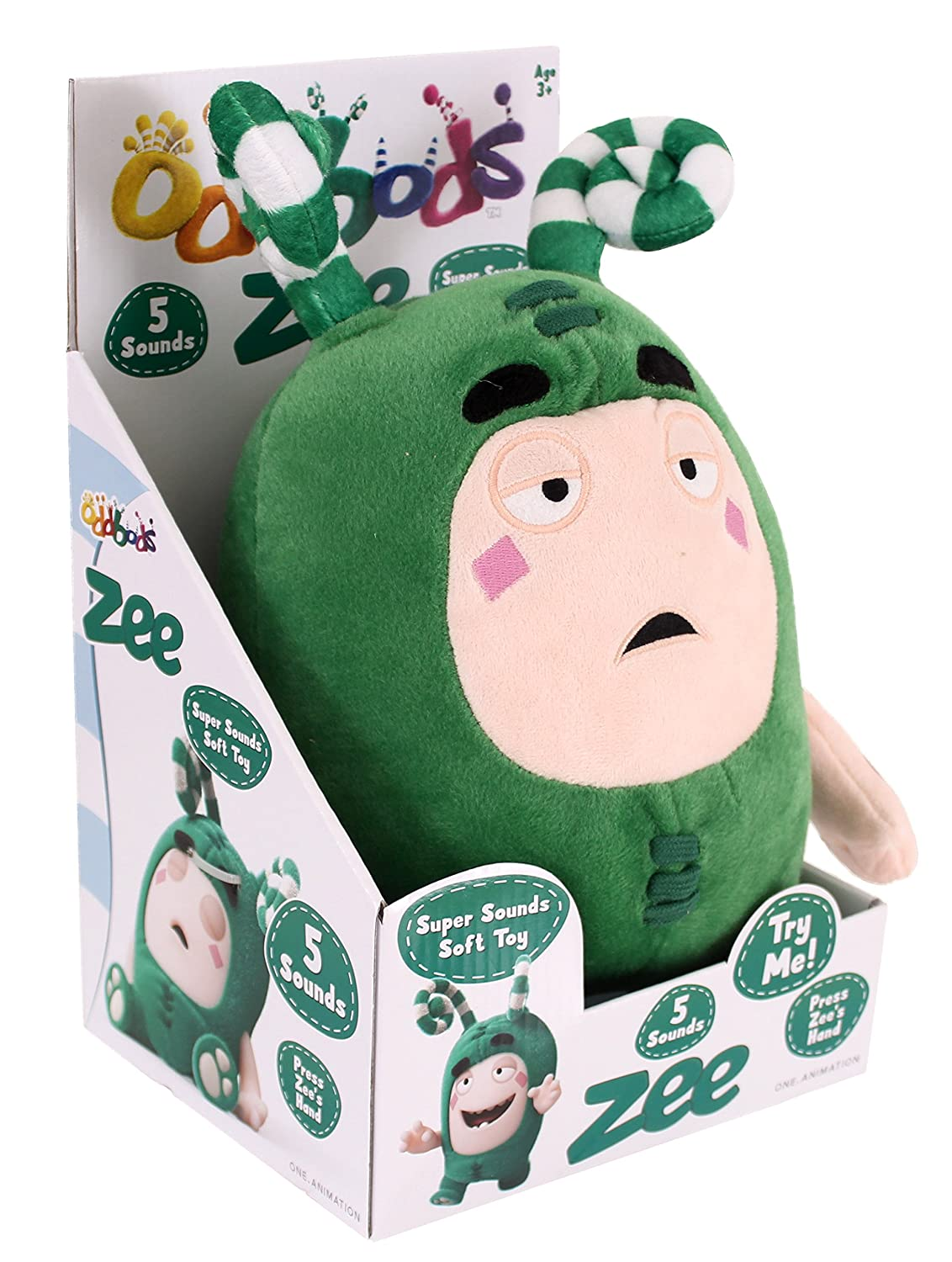 Amazon.com: Golden Bear Oddbods ZEE Super Sounds Soft Toy (Dispatched From UK): Toys & Games