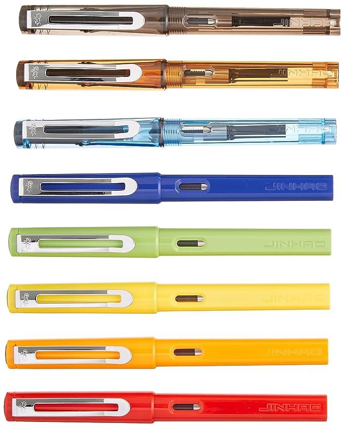 Jinhao 599 Lot de 8 stylos plume Coffret Transparent diversité et ...