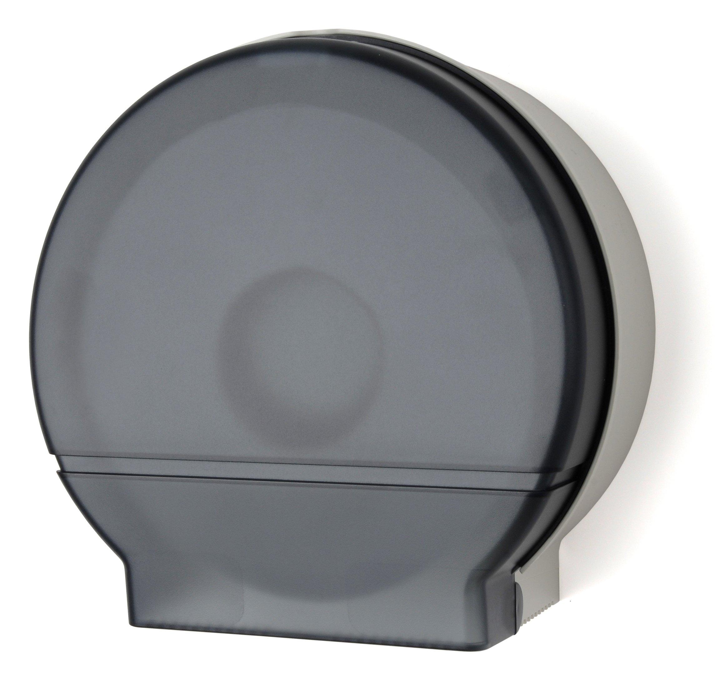 Palmer Fixture RD0026-01F Single Roll Jumbo Tissue Dispenser with Core Adaptor, Dark Translucent