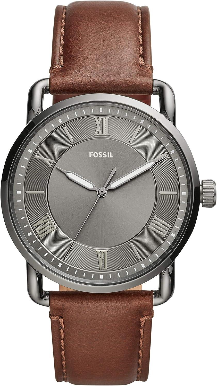 Fossil Copeland - Reloj de 42 mm con Tres manecillas con Correa de Cuero marrón para Hombre - FS5664