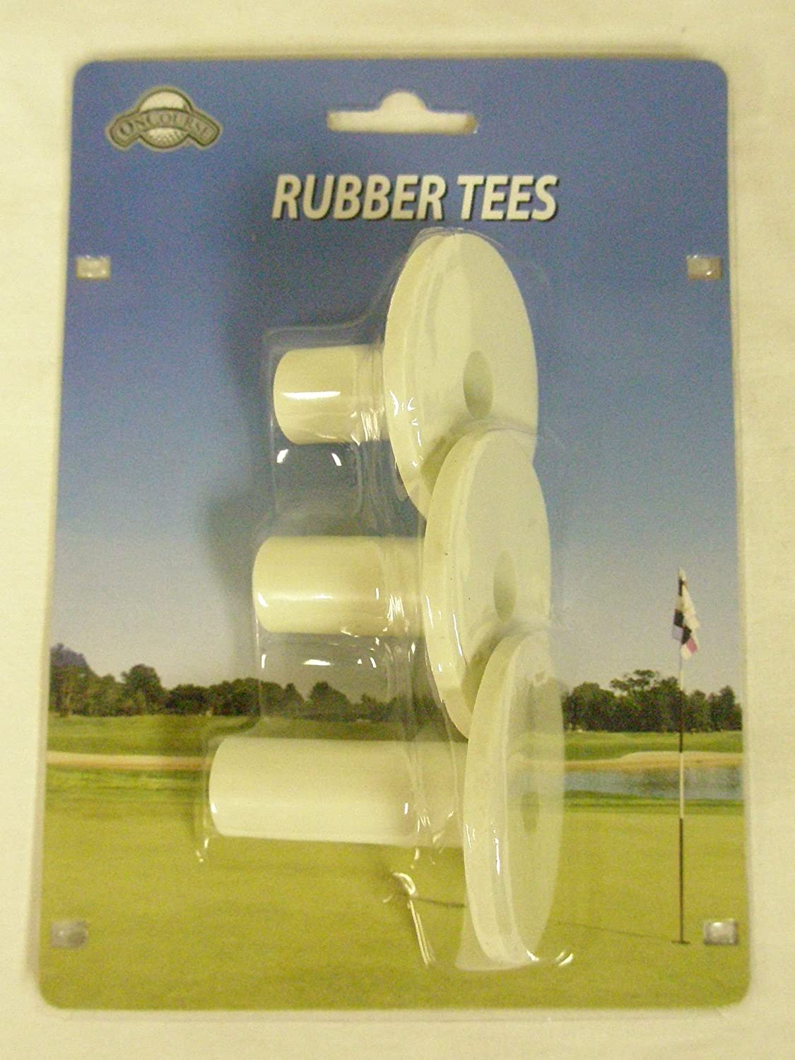 OnCourse Rubber Tees Multiple Size 3pk (Golf Driving Mat Range Tee)