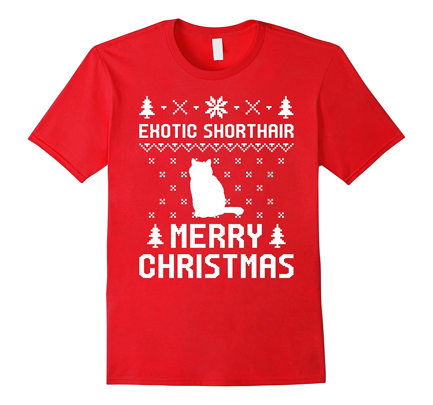 Exotic Shorthair Ugly Christmas Sweater T-shirt-AZP