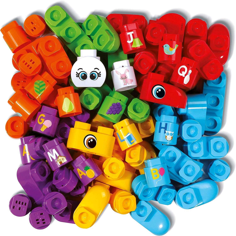 VTech Bla Bla Blocks Coffret 50 blocs (Sans electronique) - Juguetes de construcción (Multicolor, 1,5 año(s), Niño/niña, 5 año(s), Francés, 410 g): Amazon.es: Juguetes y juegos