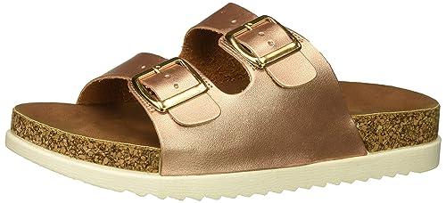 a500bb03612 Steve Madden Women's Goldiie Rose Gold Sandal 9.5 US