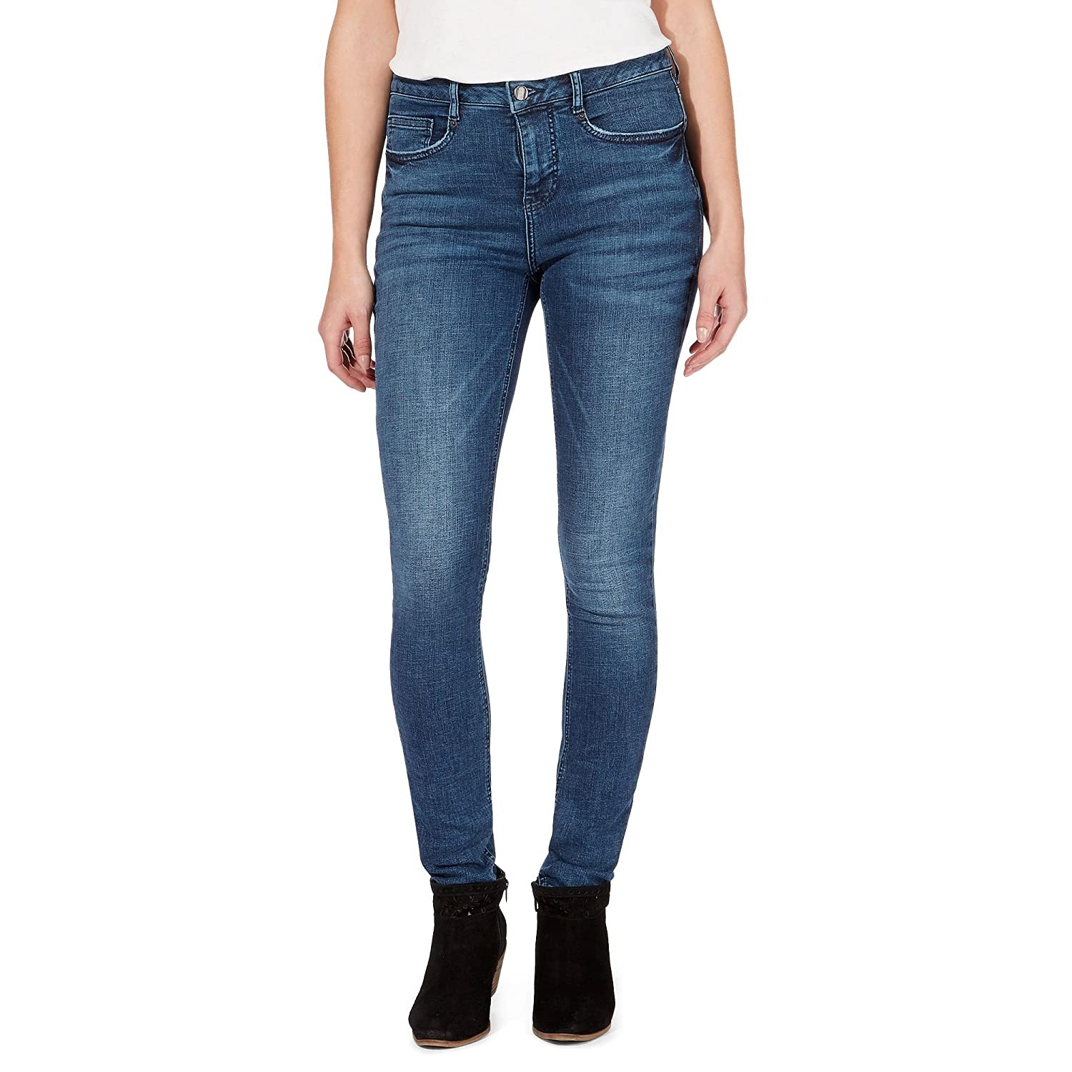 Nine By Savannah Miller Womens Dark Blue High-Waisted Slim Leg Jeans