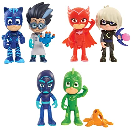 "Just Play PJ Masks Deluxe 3 Pc Set of 2 Packs with 3"" Poseable Action"