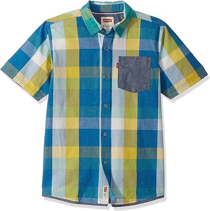Levis - Camisa - para niño Multicolor Azul/Amarillo: Amazon.es: Ropa y accesorios