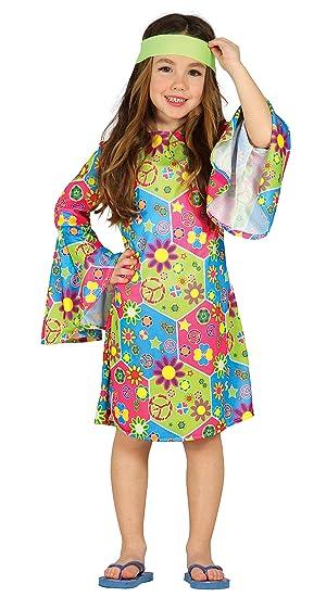 Guirca- Disfraz hippie girl, Talla 5-6 años (85607.0): Amazon.es ...