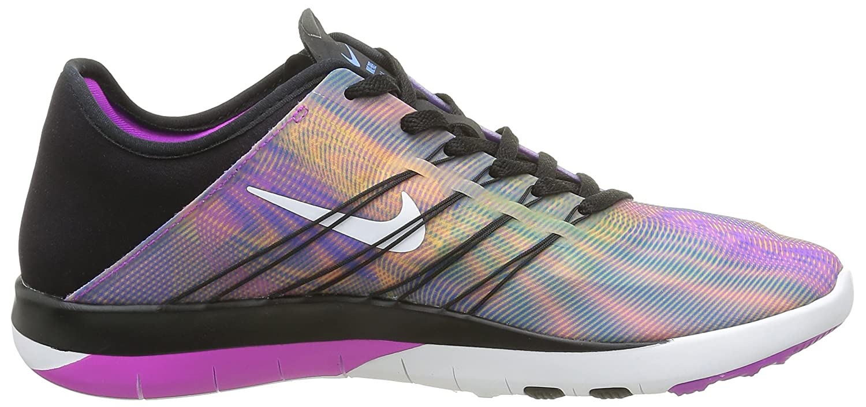 bdf0b2dab026 Zapatos de entrenamiento Nike Free TR 6 para mujer Negro   Blanco-Hiper  violeta