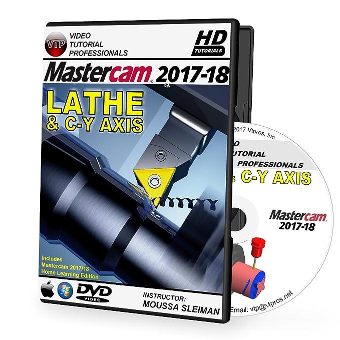 Amazon com: Mastercam 2017-2020 LATHE & C-Y AXIS Video Tutorial HD DVD