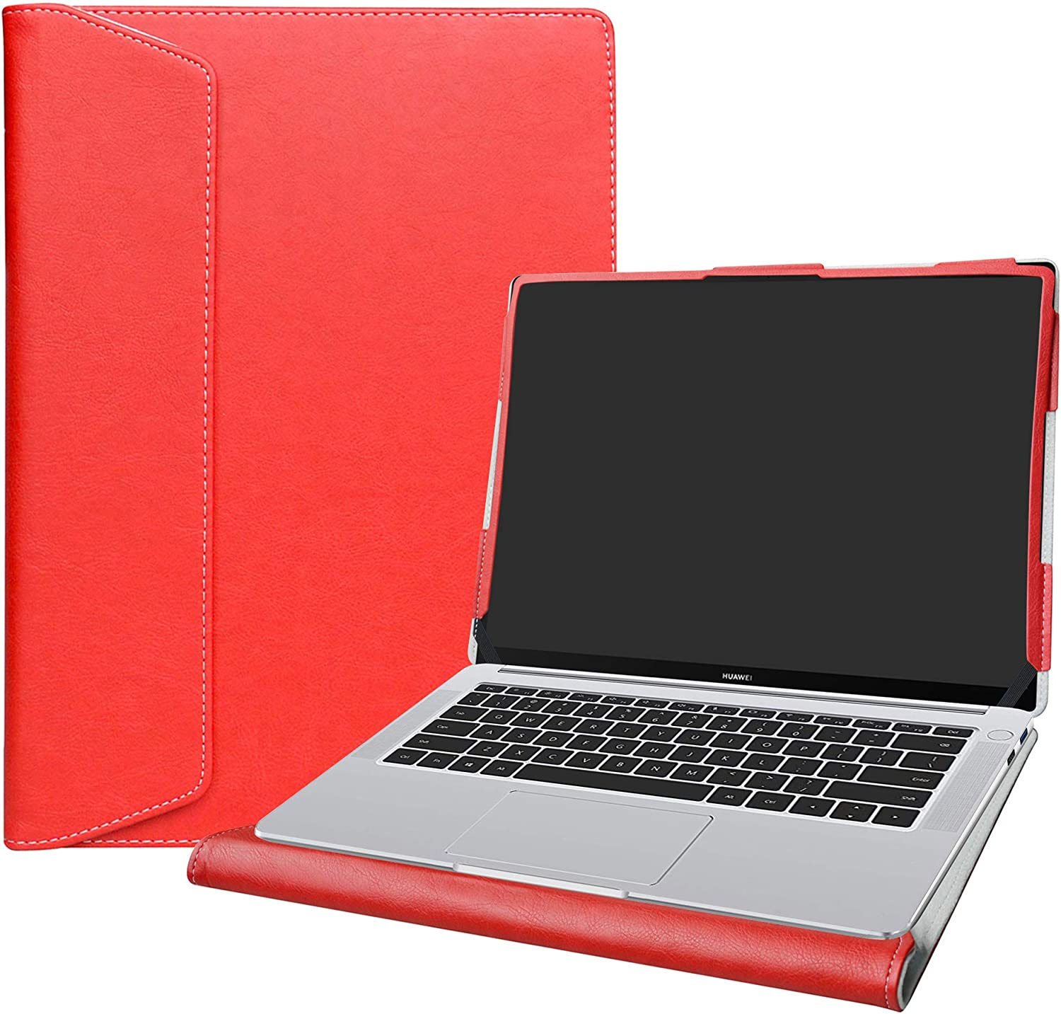 """Alapmk Protective Case Cover for 14"""" HP ProBook x360 435 G7 & Huawei Matebook 14 2019/Huawei Matebook 14 2020 Laptop(Not fit Matebook X/Matebook D/Matebook X Pro/Matebook 13),Red"""