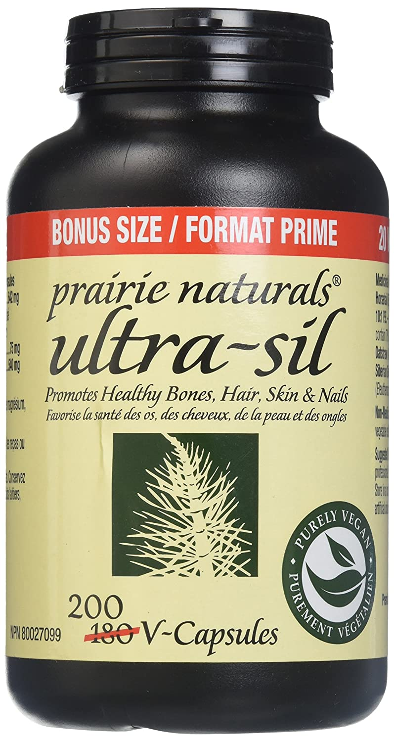 Amazon.com: Prairie Naturals Ultra SIL 500mg Organic Vegetal Silica Bonus Size V Caps, 200 Count: Health & Personal Care
