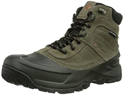 Columbia Men's Snowblade Waterproof Boot Cold Weather Boot,Mud/Dark  Ginger,8 M