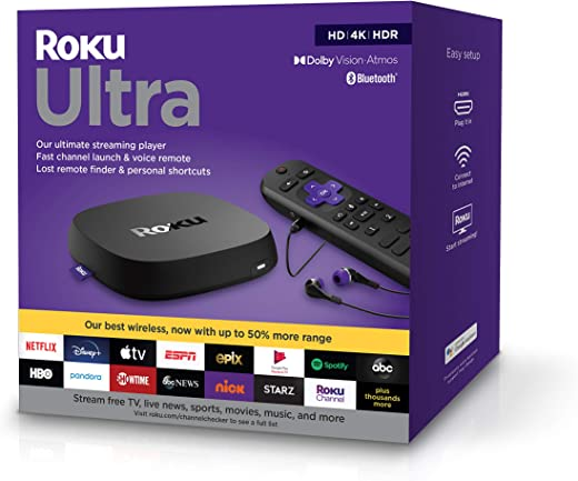 Roku Ultra 2020 | Streaming Media Player HD/4K/HDR/Dolby Vision with Dolby Atmos, Bluetooth Streaming, and Roku Voice Remote with Headphone Jack…