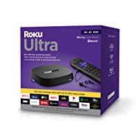 Roku Ultra 2020 | Streaming Media Player HD/4K/HDR/Dolby Vision with Dolby Atmos, Bluetooth Streaming, and Roku Voice Remote with Headphone Jack and Personal Shortcuts, includes Premium HDMI Cable