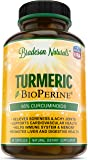 Turmeric Curcumin with Bioperine 100% Natural Anti-Inflammatory & Antioxidant. Digestive & Cardiovascular Health. Pain Relief & Healthy Joints with 95% Standardized Curcuminoids. Non-GMO & Gluten Free