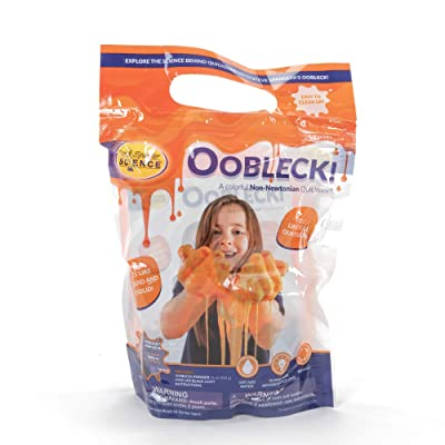Steve Spangler Science Oobleck Mix, 16 oz Powder Packets, Orange Slime – Science Kits for Kids, Safe, Non-Toxic, Environmentally Friendly, Encourages Creative STEM Learning for Classrooms or Home: Industrial & Scientific