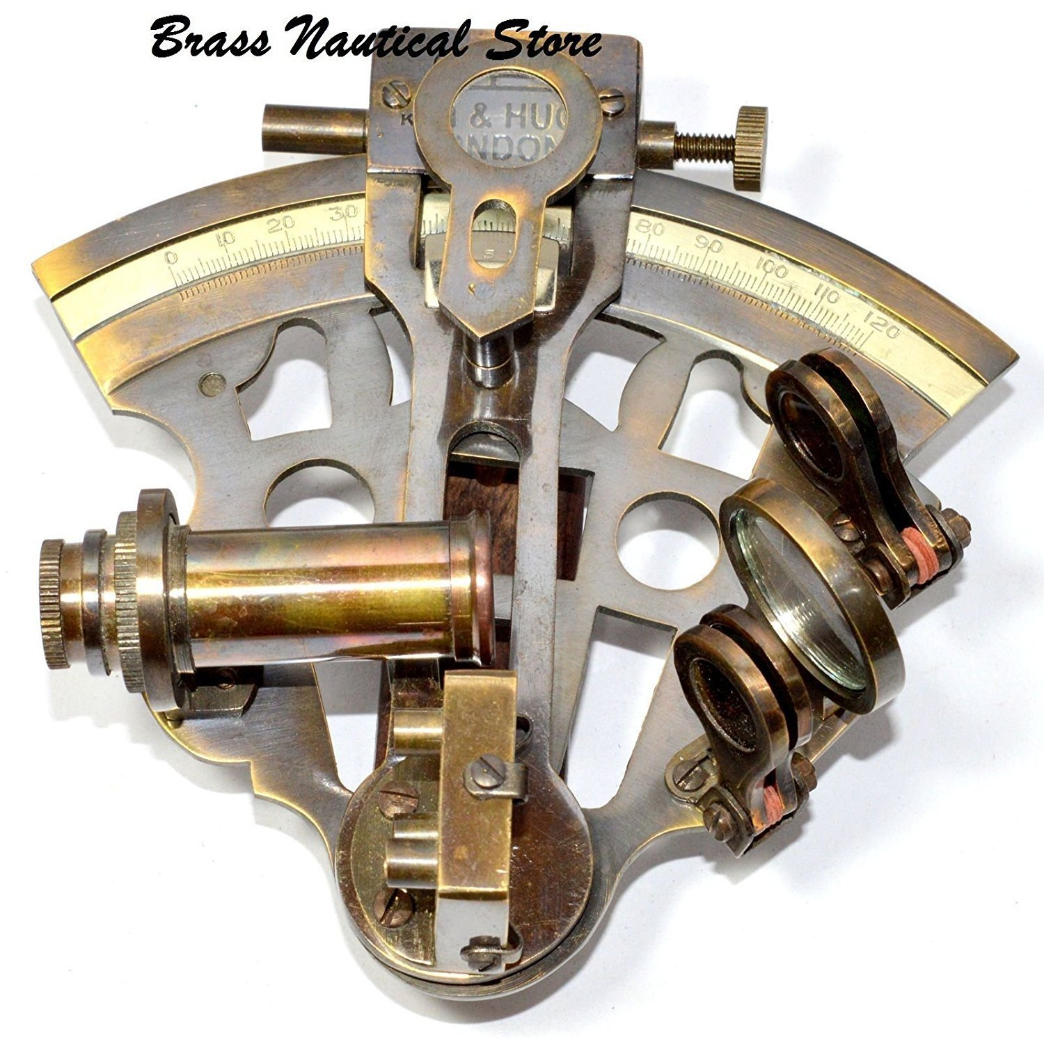 Hello Nauticals Store MARINE COLLECTIBLE NAUTICAL BRASS WORKING SHIP ASTROLABE SEXTANT VINTAGE STYLE.