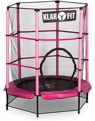 Klarfit Rocketkid 3 Cama elástica infantil 140 cm (Red de seguridad, apto exterior o