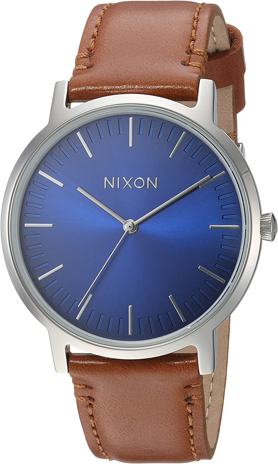 Nixon Men s Porter Stainless Steel Japanese-Quartz Watch with Leather Calfskin Strap, Black, 20 Model A10582694