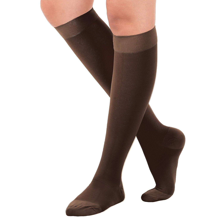 0d9550489762bd Amazon.com: Made in The USA- XXXL Opaque Compression Socks, Knee-Hi ...
