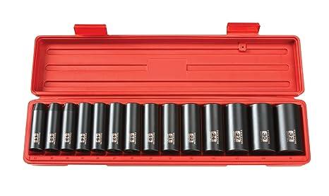 5145cbb9641 Amazon.com  TEKTON 1 2-Inch Drive Deep Impact Socket Set