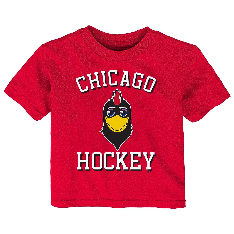 【日本限定モデル】 (Chicago Blackhawks, Blackhawks, 18 NHL Months, Red) Tee - NHL unisex-child