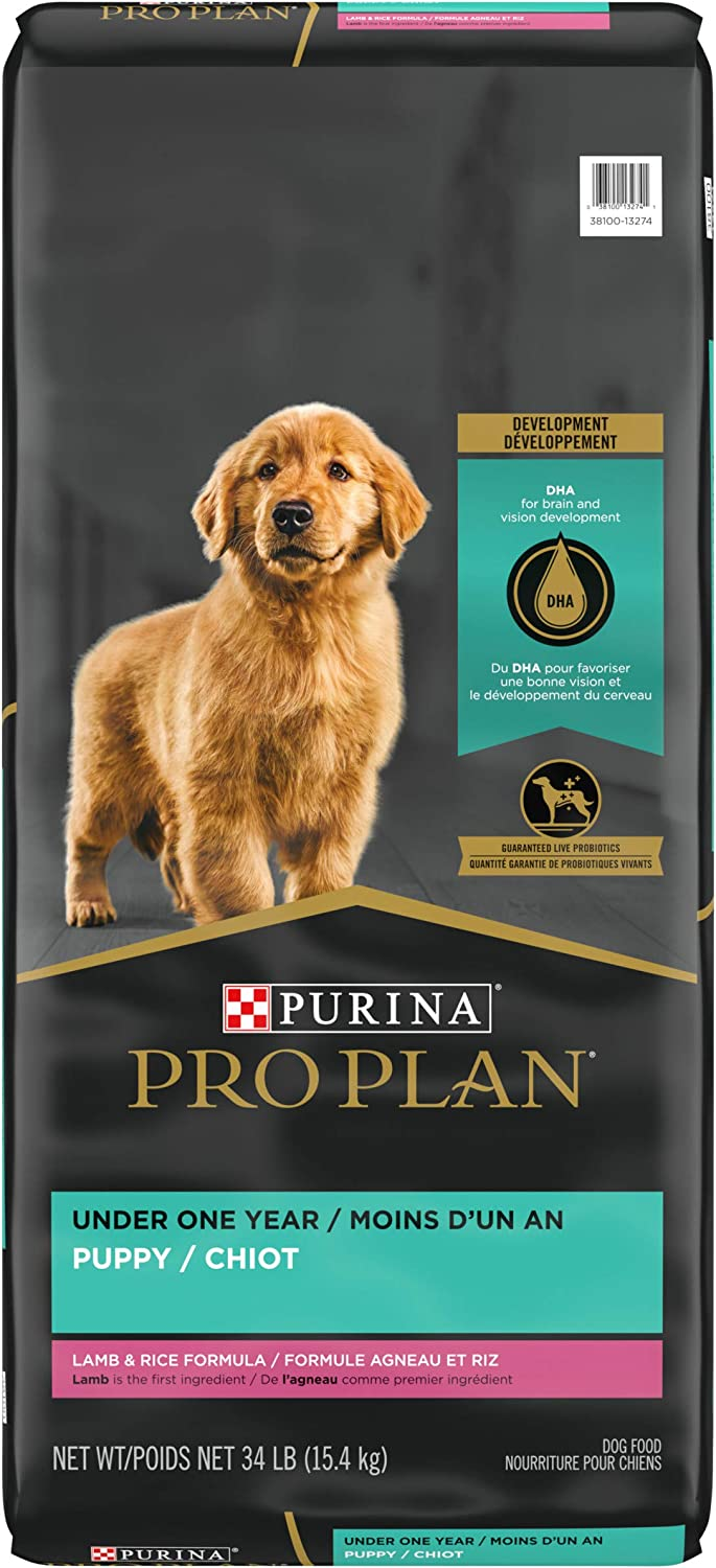 Purina Pro Plan Real Meat, High Protein Dry Puppy Food, Lamb & Rice Formula - 34 lb. Bag