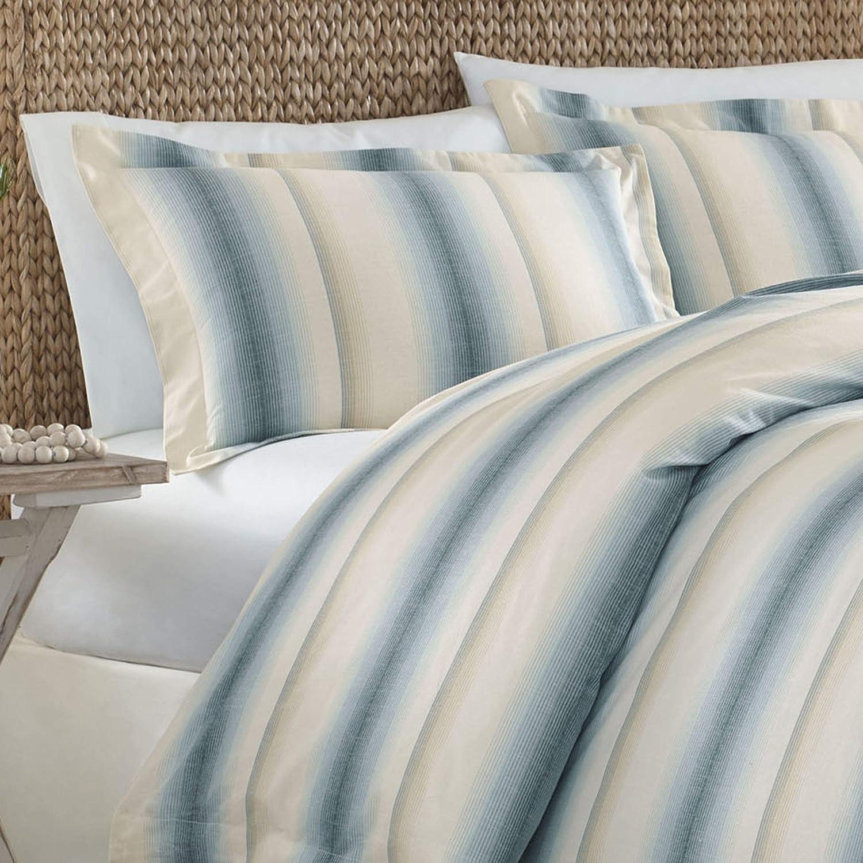 Tommy Bahama La Prisma Stripe Comforter Set Queen Blue Revman International USHSA31070092