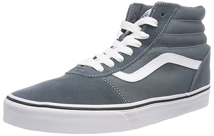 Vans Herren Ward Hi Suede/Canvas Hohe Sneaker Blau Stormy Weather/White U0y