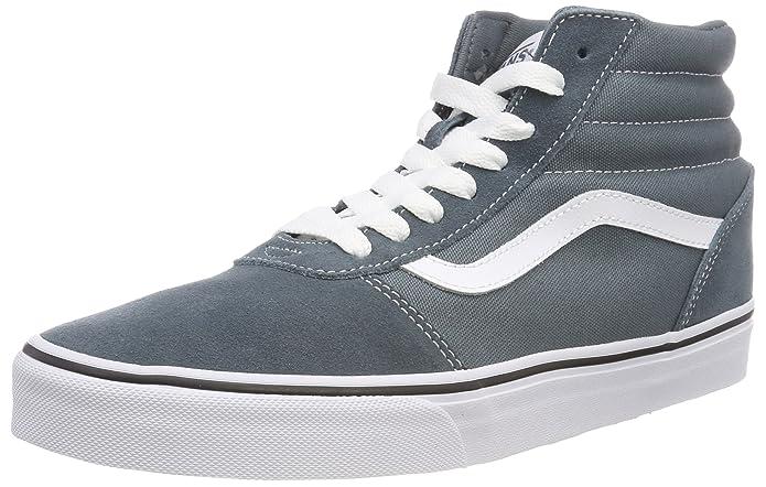 Vans Herren Ward Hi Suede/Canvas Hohe Sneaker Blau Stormy Weather/White U0y
