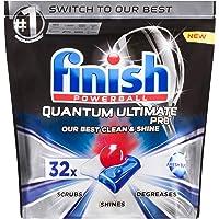 Finish Powerball Quantum Ultimate Pro Dishwasher Tablets, 32 Pack, Original