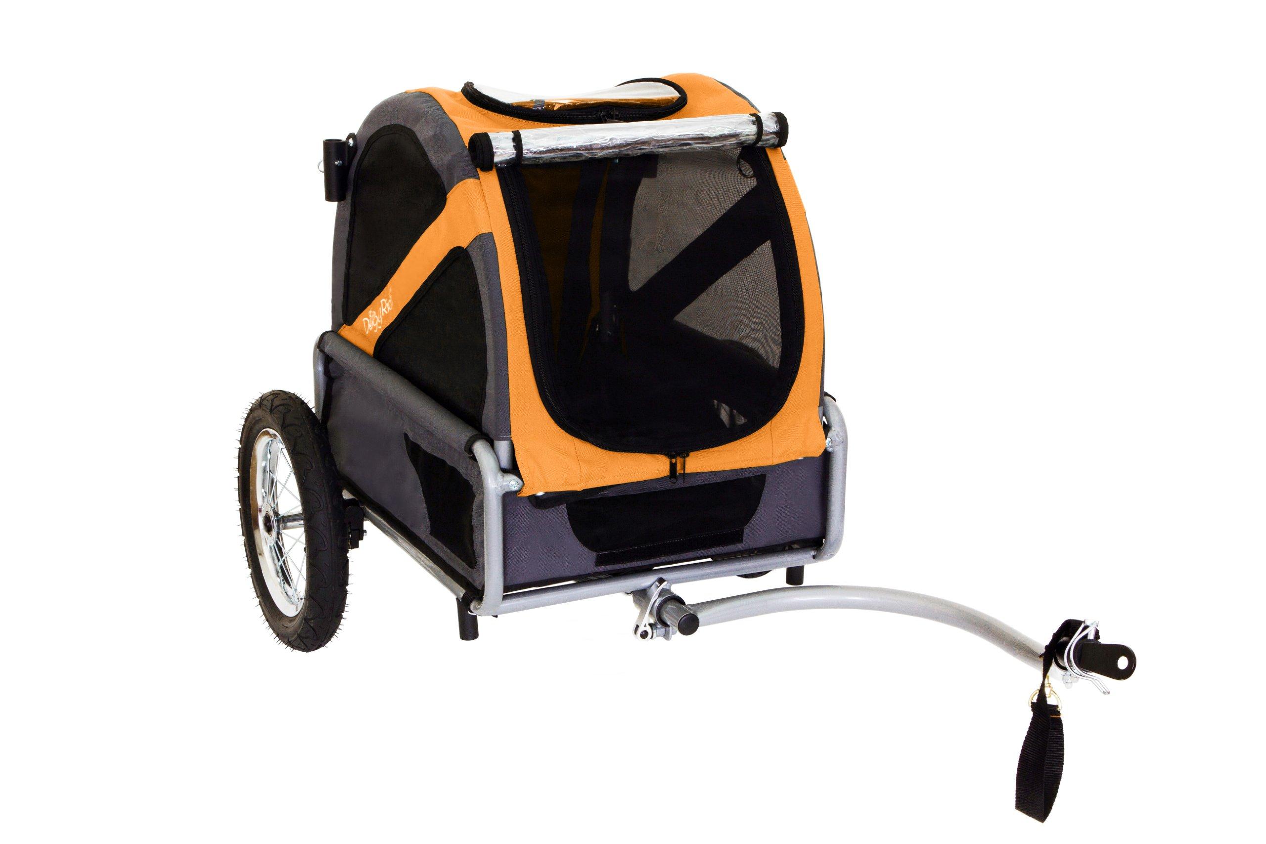 DoggyRide Bike Trailer for Dogs, Mini, Dutch Orange/Grey by DoggyRide