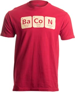 8c9289bf722 Amazon.com  Mens The Chemistry of Bacon T Shirt Funny Brunch ...