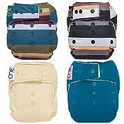 GroVia O.N.E. Reusable Baby Cloth Diaper - 4 Pack (Color Mix 6)