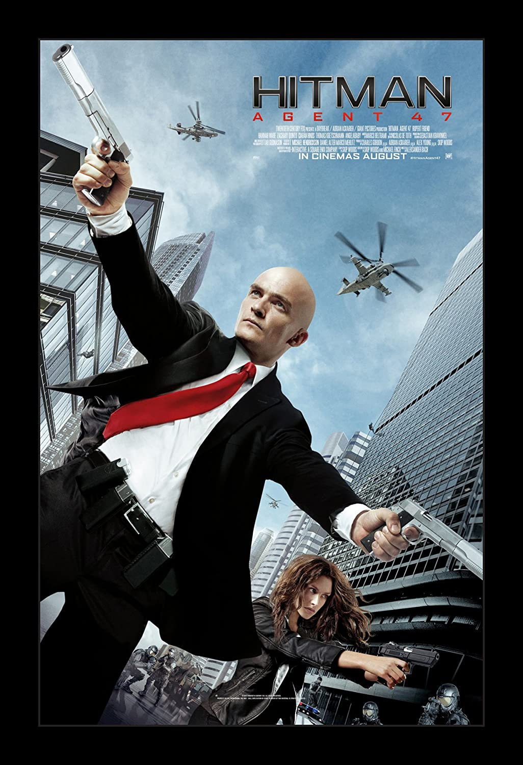 Amazon Com Hitman Agent 47 11x17 Framed Movie Poster By