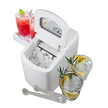 Máquina de cubitos de hielo Melissa sin conexión de agua con pantalla LED en blanco, ...