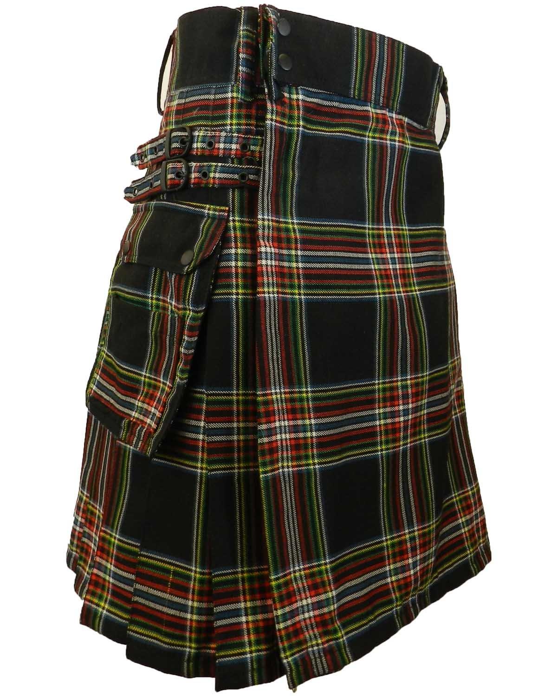 UTKilts Men's Tartan Utility Kilt - Several Tartans Available (38, New World Celt)