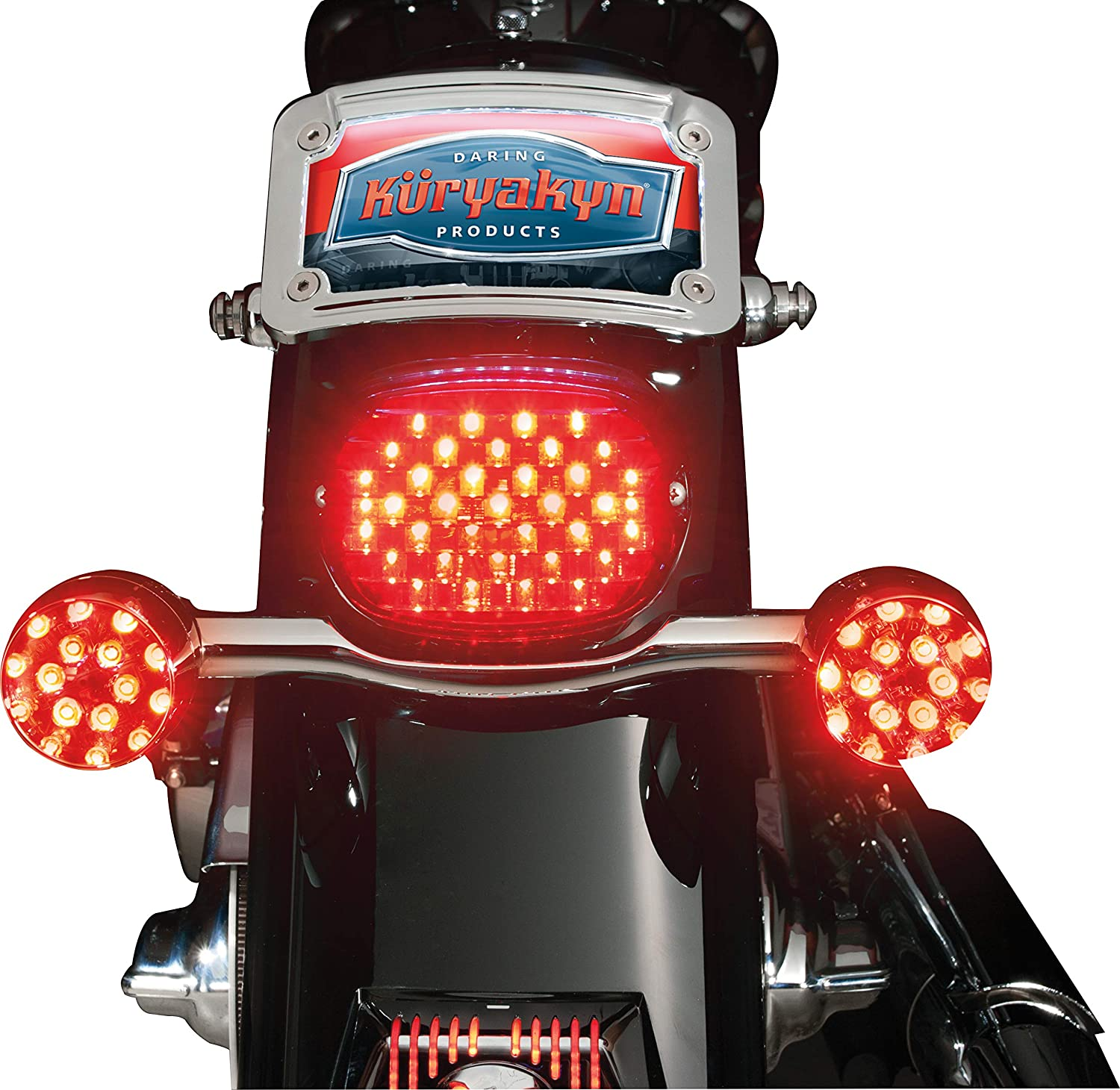 Red Lens Low Profile LED Taillight Conversion Kit without License Plate Illumination Light for 2005-19 Harley-Davidson Motorcycles Kuryakyn 5437 Motorcycle Lighting