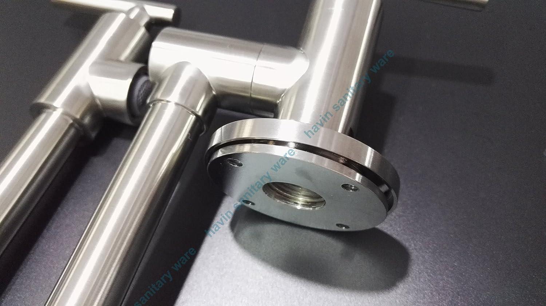 Havin Brushed Nickel Single Handle 304 Stainless Steel Kitchen Sink ...