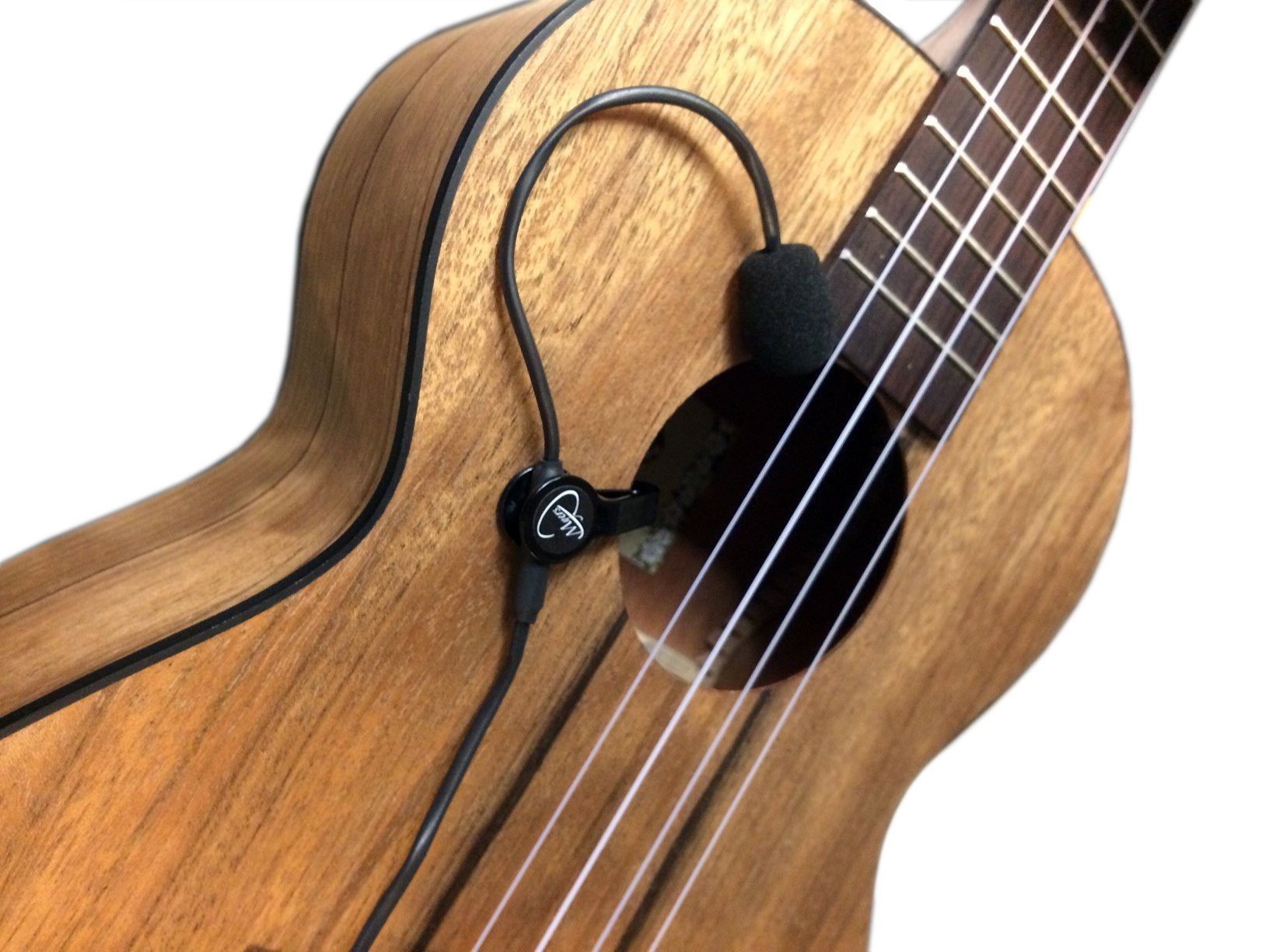''THE FEATHER'' UKULELE PICKUP with FLEXIBLE MICRO-GOOSE NECK by Myers Pickups ~ See it in ACTION! Copy and paste: myerspickups.com