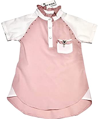 ce5bca34 My Kids Pink High Neck Blouse For Girls: Amazon.ae