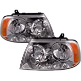 perde compatible with lincoln navigator with performance lens chrome  headlamps headlights pair driver passenger set