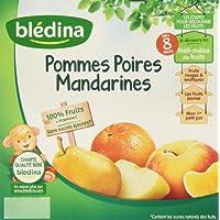 Blédina Coupelles Pomme Poire Mandarine dès 8 mois 4 x 100 g - Lot de 6