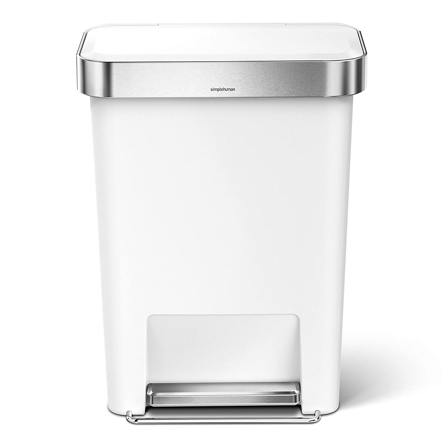 Plastique 32 x 47 x 63,5 cm Simple Human CW1387CB 45L Liner Pocket Bin Blanc