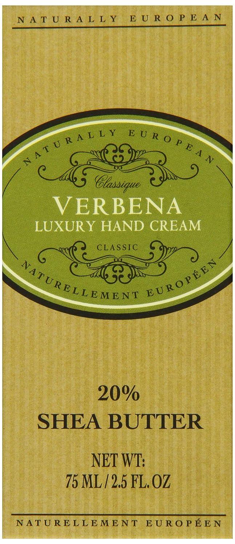 Naturally European Verbena Luxury Hand Cream 75ml Somerset Distribution 91840