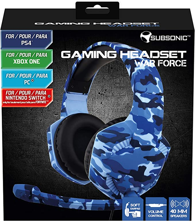 Subsonic - Auricular para juegos War Force para PS4 / Xbox one/ PC ...