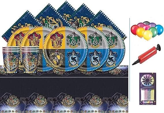 Harry Potter Party Pack Kids Birthday Kit de vaisselle pour 16-plaques couverture de table et Baloons gratuit tasses serviettes