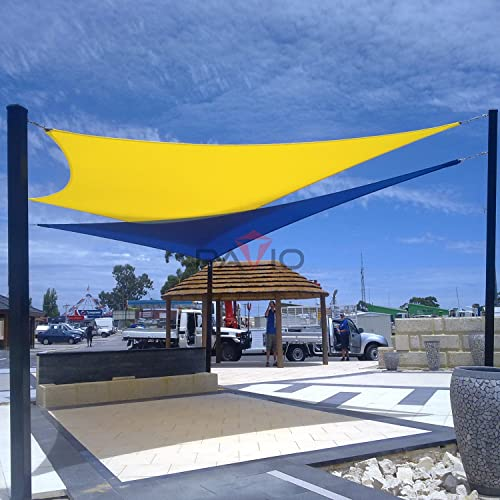Patio Paradise 16' x 16' Canary Yellow Sun Shade Sail Square Square Canopy