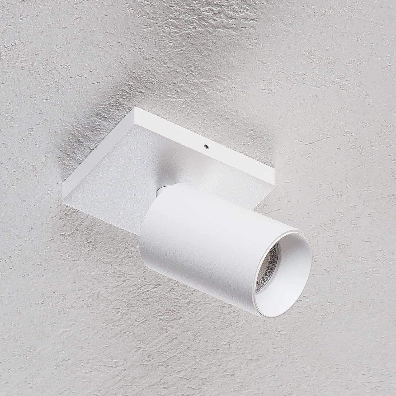 1 flammig, GU10, A+ Deckenleuchte Lampenwelt Strahler Brinja dimmbar Spot Flurleuchte f/ür Flur /& Treppenhaus Lampe - Deckenlampe Modern in Wei/ß aus Metall u.a